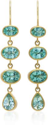 Mallary Marks 18K Gold Green Paraiba Earrings