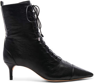 Alexandre Birman Leather Millen Lace Up Ankle Boots in Black | FWRD