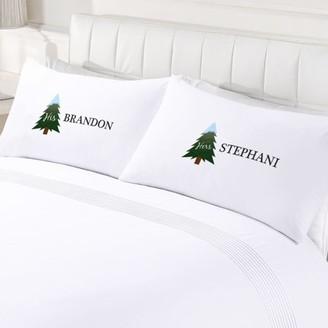 MonogramOnline Custom Home Couples His & Hers Holiday Pillowcase Set