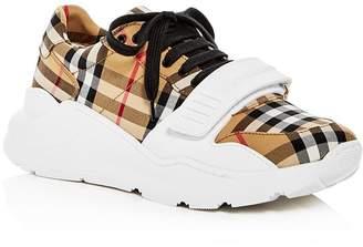 1573f5c49e1 Burberry Women s Regis Vintage Check Platform Sneakers