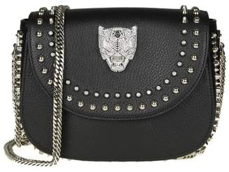 Philipp Plein Shoulder Bag joanna In Hammered Leather Color Black