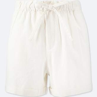 Uniqlo Women's Cotton Linen Relaxed Shorts
