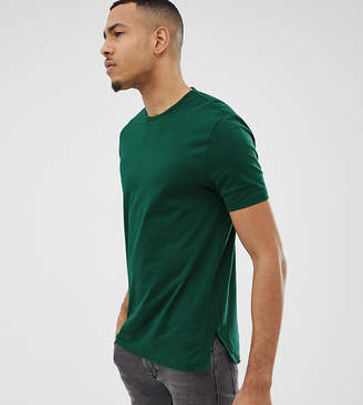 Asos Design TALL relaxed T-Shirt With Side Splits in green