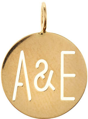 Sarah Chloe Large Eva 2-Letter Ampersand Disc Charm