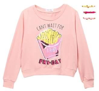Beautees Sequin Fry-Day Top & Hair Ties (Big Girls)