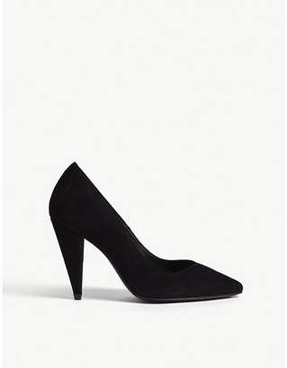 Maje Floro suede courts