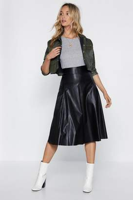 Nasty Gal No Midi Ground Faux Leather Skirt