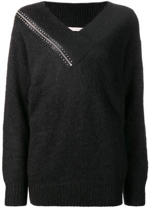 Christopher Kane shoulder zip knit sweater