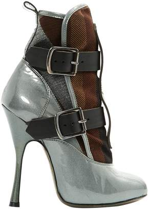 Vivienne Westwood Patent leather buckled boots