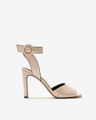 Express Square Toe Buckle Heeled Sandals