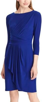Chaps Women's Pleated Jersey Dress