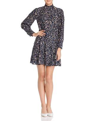 Rebecca Taylor Vivianna Silk Floral-Print Shirt Dress