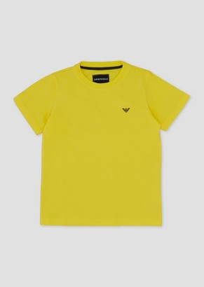 Emporio Armani Jersey T-Shirt With Small Rubber Logo