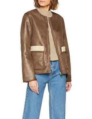 Warehouse Women's Reversible Borg Coat,(Size:)