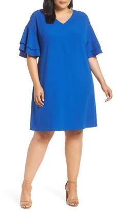 ECI Ruffle Sleeve Shift Dress