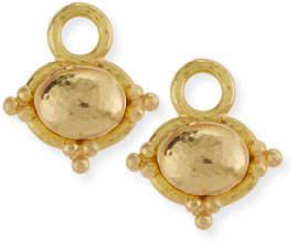 Elizabeth Locke Horizontal 19K Dome Earring Pendants