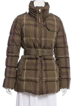 Burberry House Check Puffer Jacket