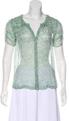 Joie Semi-Sheer Silk Top