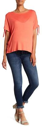 DL1961 Margaux Frayed Hem Skinny Jeans (Maternity)