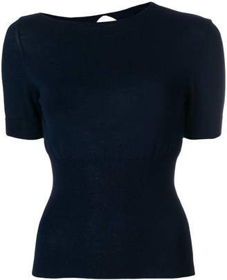 Jacquemus cut-out back fitted top