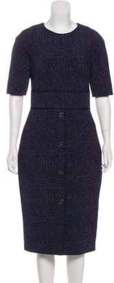 Lela Rose Tweed Midi Dress