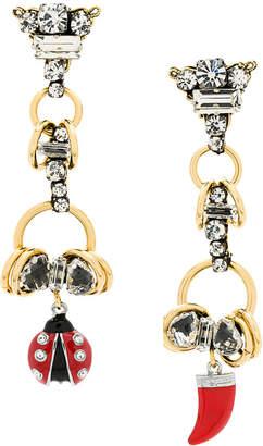 Rada' Radà ladybird sharktooth drop earrings