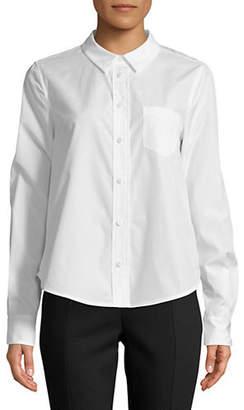Diane von Furstenberg Lace Back Cotton Shirt