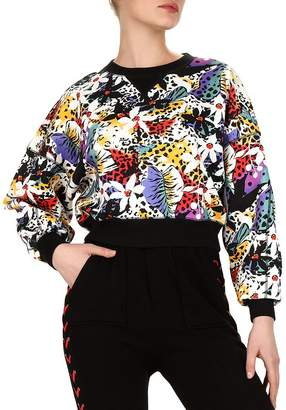 The Kooples Honolulu Floral-Print Sweatshirt