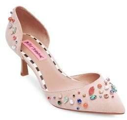 Betsey Johnson Max Rhinestone-Embellished Heels