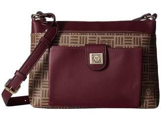 Anne Klein Lion Logo Zip Go Top Zip Crossbody Cross Body Handbags