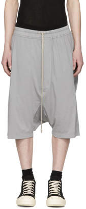 Rick Owens Grey Drawstring Pods Shorts