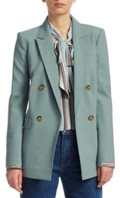 Elizabeth and James Sterling Wool Double-Breasted Blazer