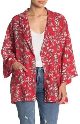Emory Park Tropical 3/4 Sleeve Kimono
