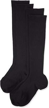 (アツギ)ATSUGI レディース靴下 WORK-Fit(ワークフィット) 22hPa リブソックス 36cm丈 (段階着圧設計) 〈2足組〉 LK79042 480 ブラック 24~~26cm~