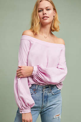 Maeve Hershell Off-The-Shoulder Blouse