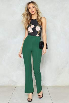 Nasty Gal Double Flare You High-Waisted Pants