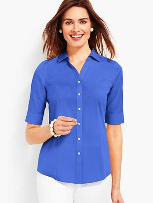 Talbots The Perfect Elbow-Sleeve Shirt - Solid