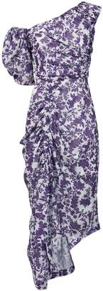 Preen by Thornton Bregazzi Asymmetric Purple Floral Dress