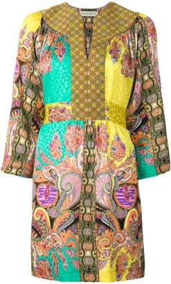 Etro multi-print kaftan dress