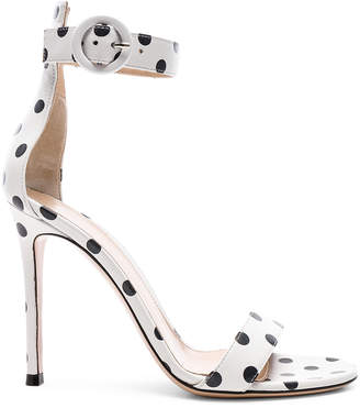 Gianvito Rossi Polka Dot Leather Portofino Sandals