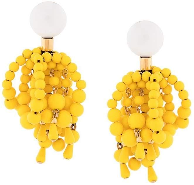 beaded clip earrings