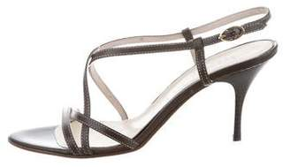 Barneys New York Barney's New York Leather Multistrap Sandals