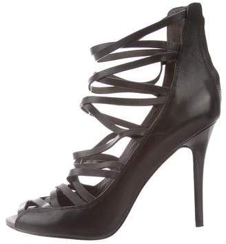 Rebecca Minkoff Leather Cage Sandals