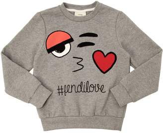 Fendi Emoji Printed Cotton Sweatshirt