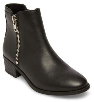 Steve Madden True Zip Leather Ankle Bootie