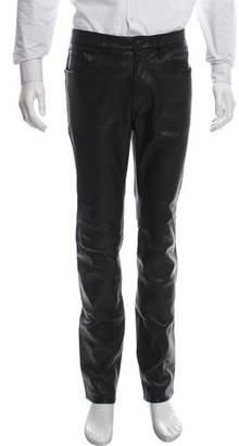 J Brand Slim Fit Leather Pants w/ Tags