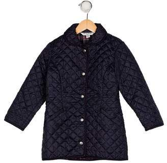 Brooks Brothers Girls' Quilted Long Sleeve Coat