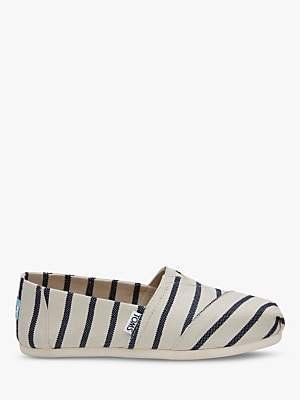 c7c6216fbc5 Showing 170 alpargatas shoes. at John Lewis and Partners · Toms Alpargata  Riviera Stripe Canvas Espadrilles