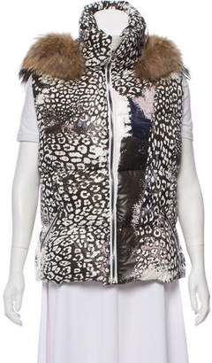Emilio Pucci Fur-Trimmed Puffer Vest