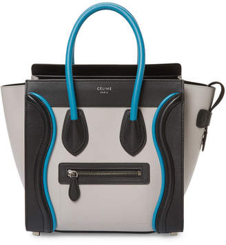 Celine Bicolor Leather Tote